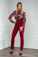 Pantaloni Logan Bordo • Pantaloni femei