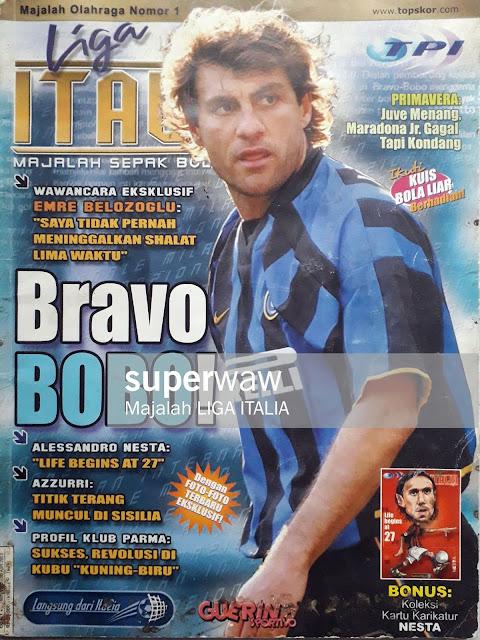 MAJALAH LIGA ITALIA: BRAVO BOBO!