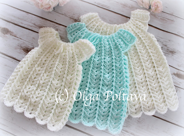 ce76630ed Lacy Crochet  Shells Baby Dress Crochet Pattern