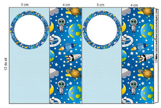 Space Party Free Printable Labels.