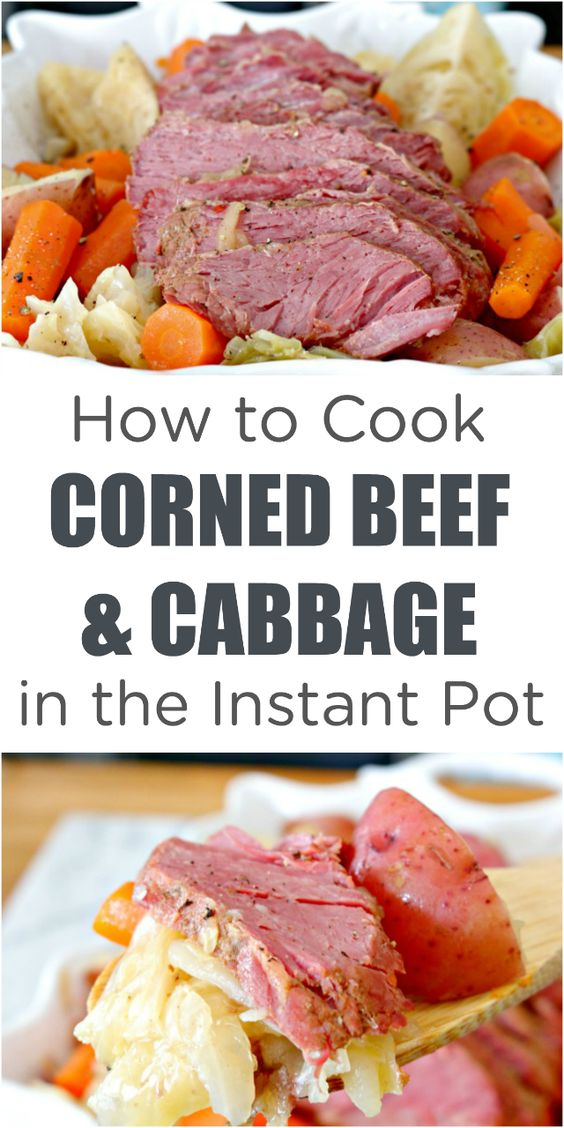 how to cook instant pot corned beef and cabbage
