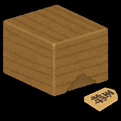 将棋の駒箱のイラスト