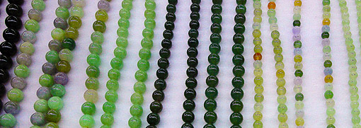 Black jade beaded chain and other colors