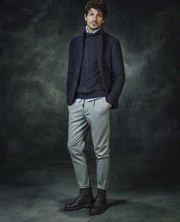 Brunello Cucinelli, Andrés Velencoso, Fall 2017, lookbook, Suits and Shirts, moda hombre, menswear, supermodel, Emilio Tini,