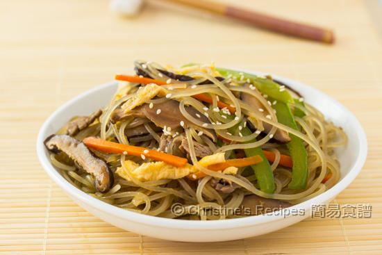 韓式炒粉絲 Korean Stir-Fried Sweet Potato Noodles02