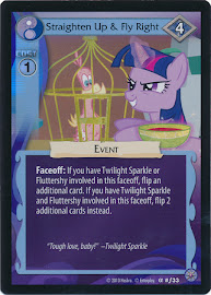 My Little Pony Straighten Up & Fly Right Premiere CCG Card