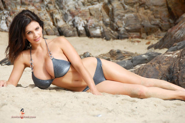 Denise-Milani-Beach-Silver-bikini-hottest-photoshoot-pics-3