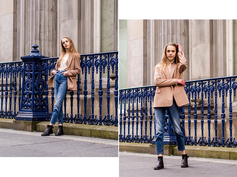 Autumn fashion women's streetstyle - Syysmuoti naiset, kasmirneule ja bleiseri
