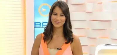 Jéssica Senra no Bahia Meio-Dia, da TV Bahia; ela deverá ser transferida para jornal de maior prestígio
