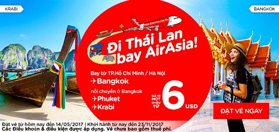 Đi Thái Lan bay Air Asia