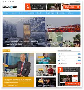 NewsOne - News WordPress Theme