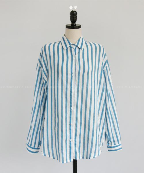 Awning Stripe Button-Down Shirt