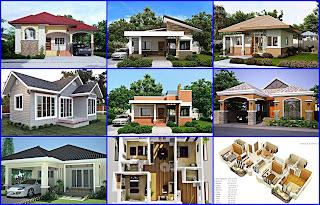 Contoh Denah dan Desain Rumah Type 45