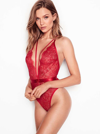 Josephine Skriver in Victoria's Secret Sexy Lingerie Model Photoshoot