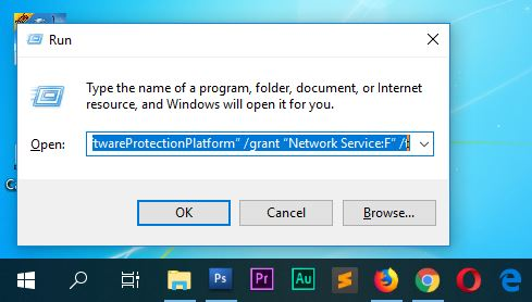 """icacls """"C:\Program Files\Common Files\Microsoft Shared\OfficeSoftwareProtectionPlatform"""" /grant """"Network Service:F"""" /t"""