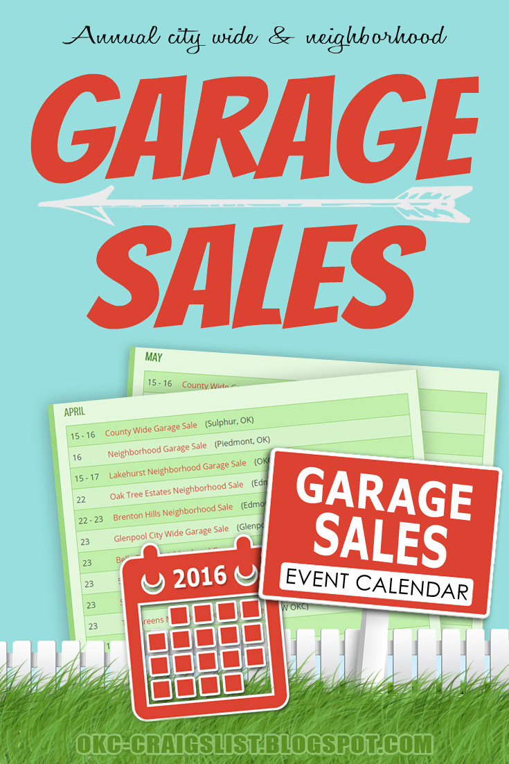 Annual Neighborhood, City Wide Garage Sale Events
