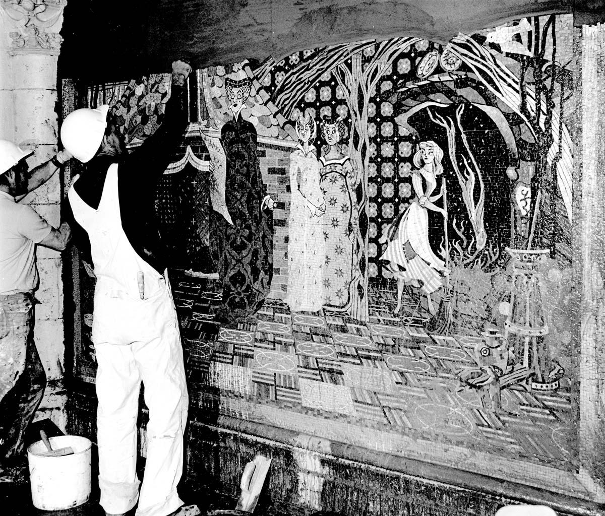 Disney avenue the unexpected art of walt disney world for Cinderella castle mural
