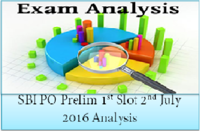 SBI PO Prelims Exam Analysis (Slot-I) 2nd July 2016
