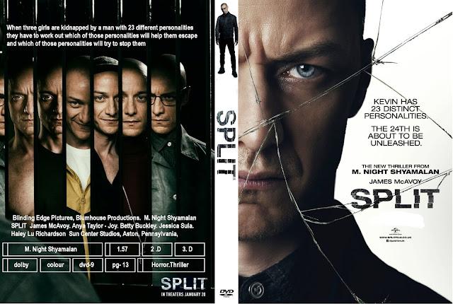 Split DVD Poster, Split Blu-Ray Poster