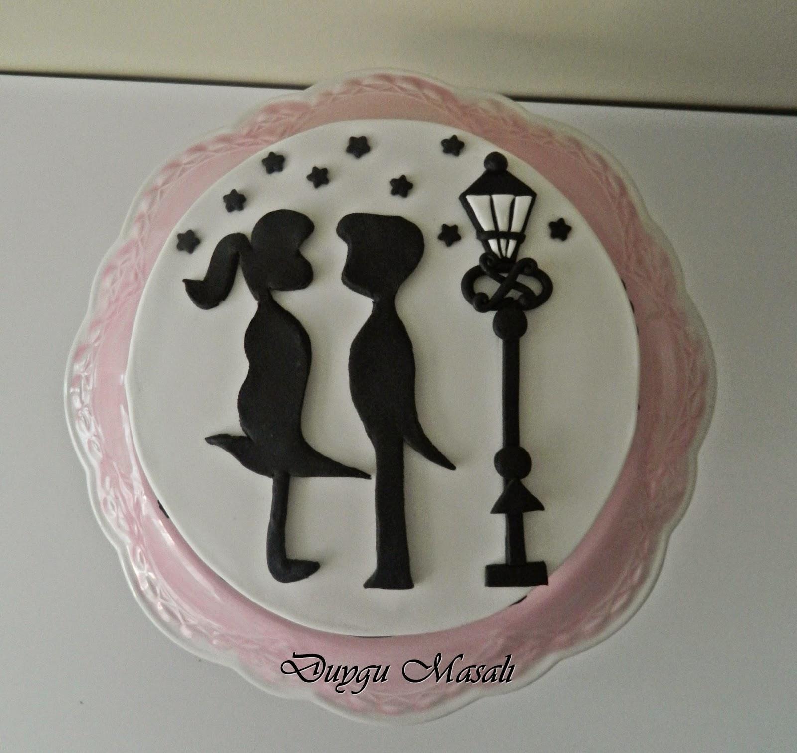 siyah beyaz pasta