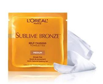 LOreal Is Giving Away FREE Sublime Bronze Self Tanning Towelettes Samples For A Limited Time Simply Log In Or Register Then Complete FORM To Redeem Offer