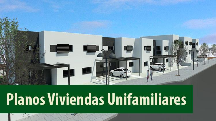 Ingenier a civil planos de viviendas unifamiliares dwg for Planos de viviendas unifamiliares