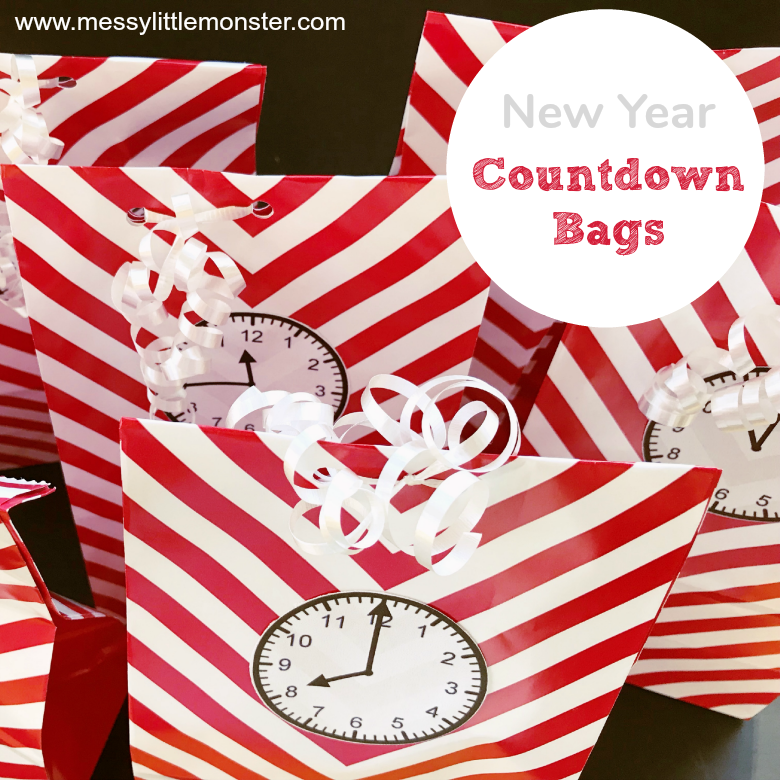 New Years Eve Countdown for Kids - Countdown Bags