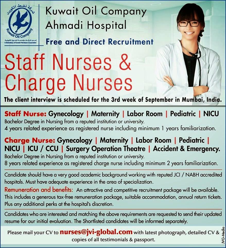 Hospital In Kuwait Job Vacancies