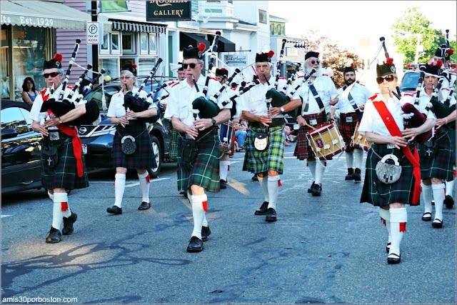 Bandas de Música en el Desfile del 4 de Julio en Rockport