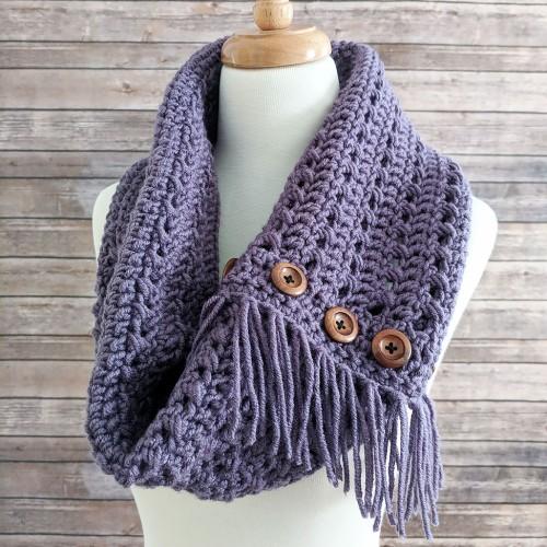 Textured Woodland Crochet Cowl - Free Pattern