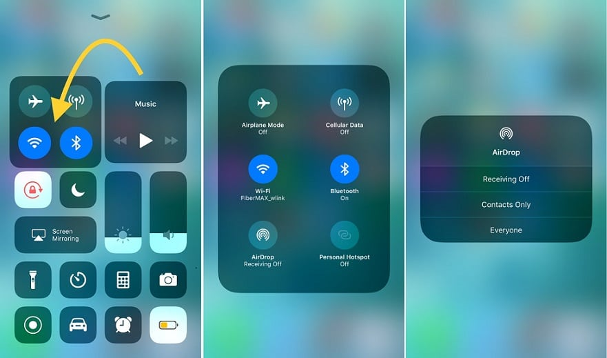 How to Enable & Use AirDrop in iOS 11 on iPhone iPad