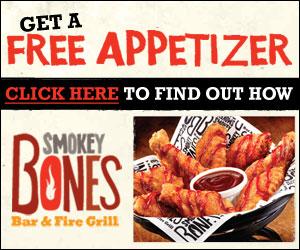 t bones free appetizer coupon