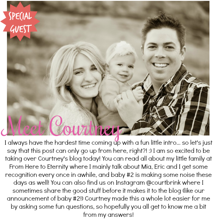 [Guest Post] Getting to Know Courtney from From Here to Eternity