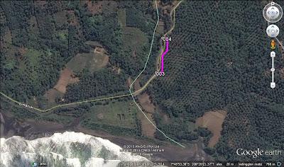 Jalan jelek sekitar pantai Keusik Luhur