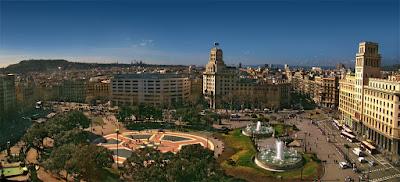 Vistas de la Plaza Catalunya de Barcelona
