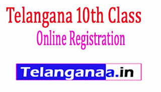 Telangana 10th Class Online Registration Form 2019