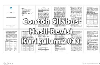 Contoh Silabus SD/MI Hasil Revisi Kurikulum 2013 Lengkap