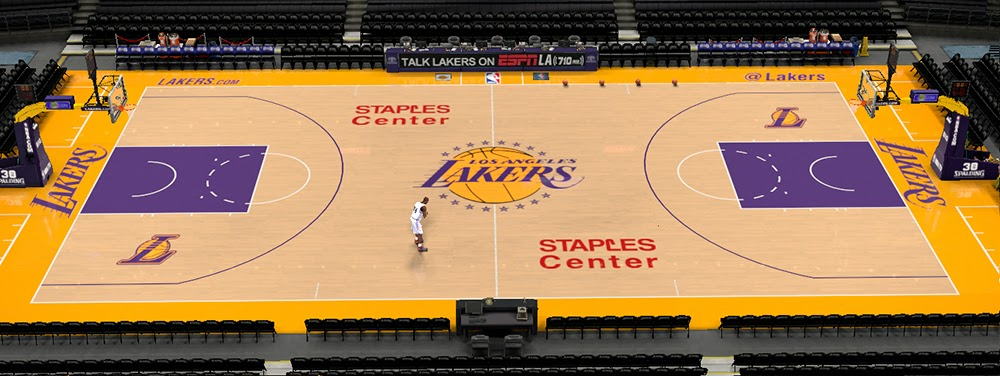 NBA 2K14 Lakers' Staples Center Court Patch (2 Versions) - NBA2K.ORG