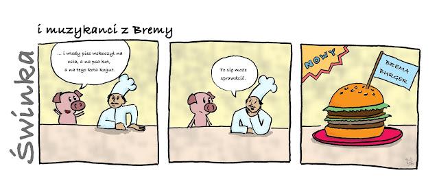wieprzowina, wtorkowa porcja wieprzowiny, swinka, basnionawarsztatowa, basnie na warsztacie, komiks, Mateusz Świstak,  comic stripes, Baśnie,