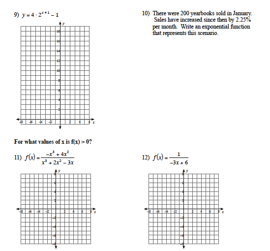 IA3 Review Packet #3 | Algebra 2