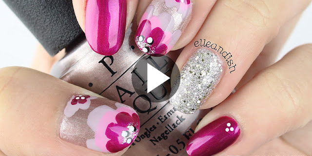Learn - How To Create Simple And Easy Layered Floral Nail Design, See Full Tutorial