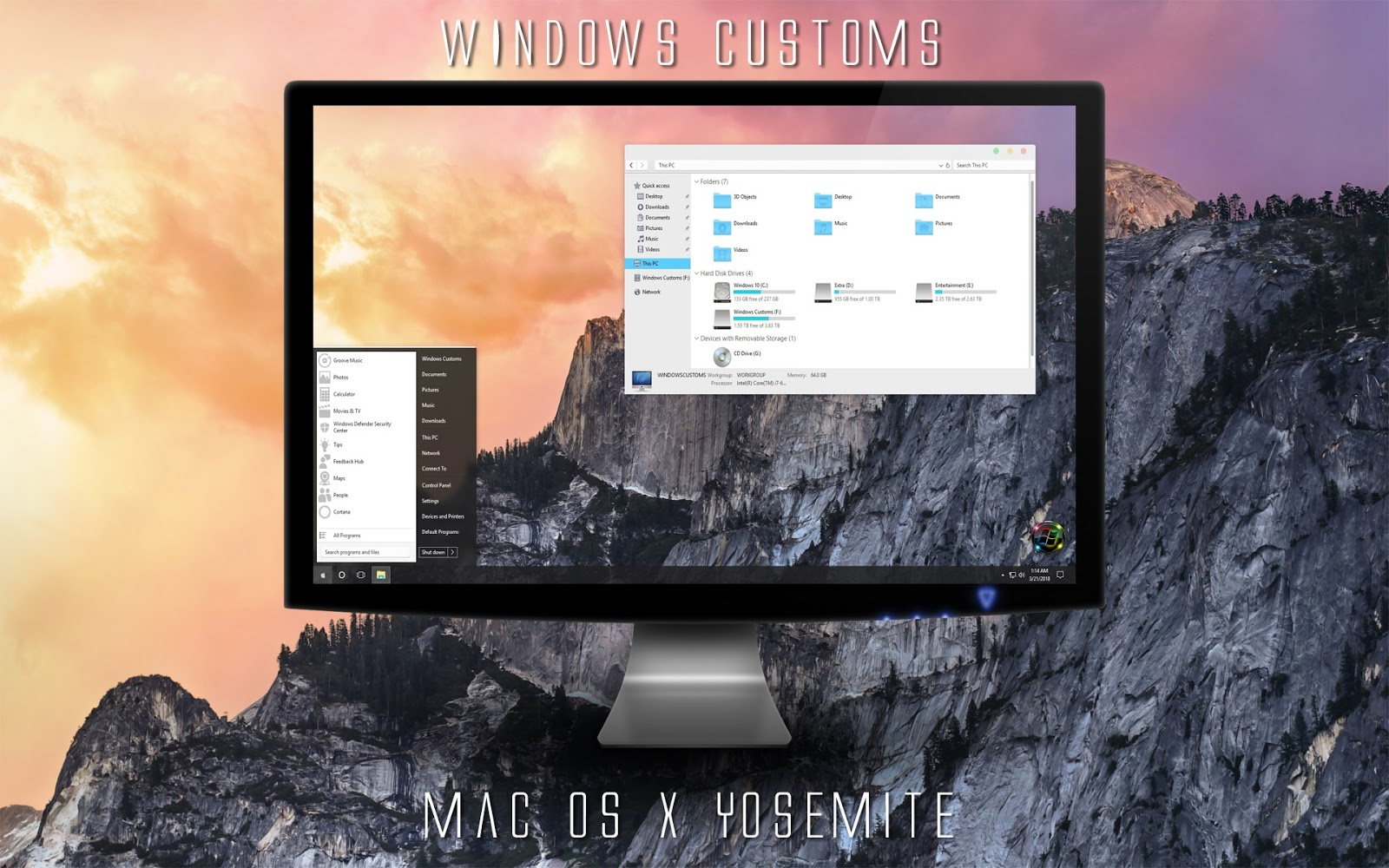 Windows Customs: Mac OS X Yosemite