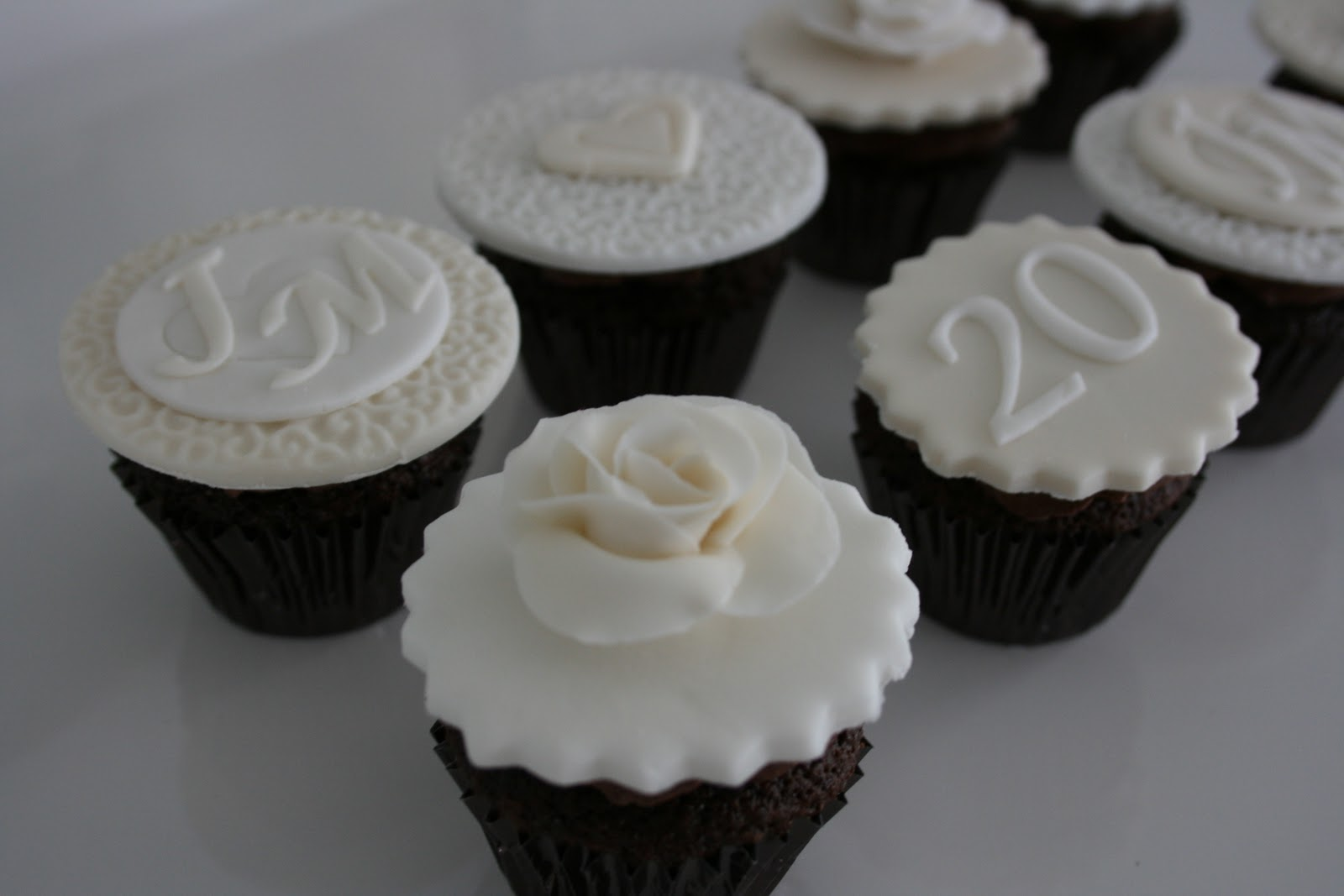 Baked By Design 20th Wedding Anniversary Cupcakes