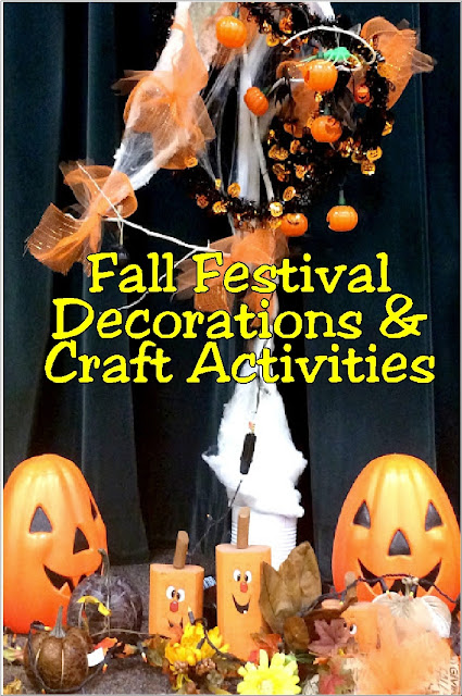 Get some fun ideas for your church or school's Fall Festival with these party decorations and craft ideas.  You can see exactly how I did our festival and what activities we had planned with these easy to follow ideas and DIYs.