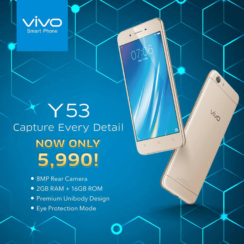 Sale Alert: Vivo Y53 Is Down To PHP 5990!