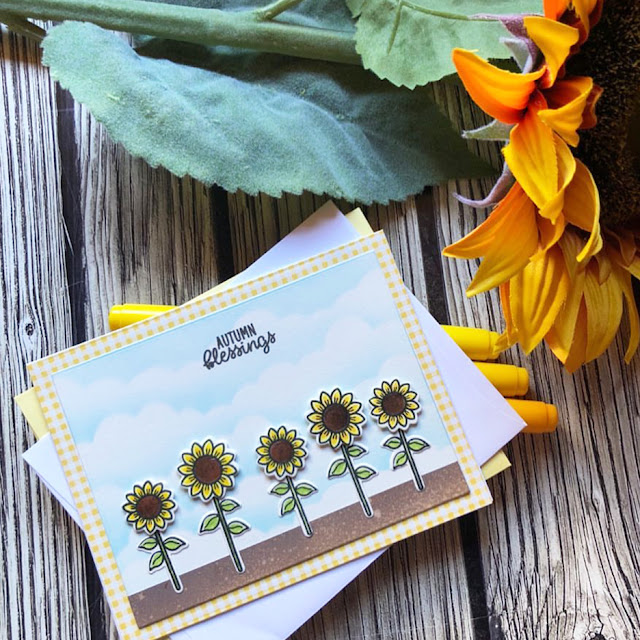 Sunny Studio Stamps: Happy Harvest Customer Card by Noga Shefer