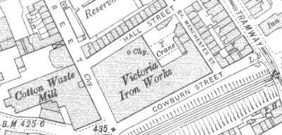 Victoria Iron Works, OS map, 1907.