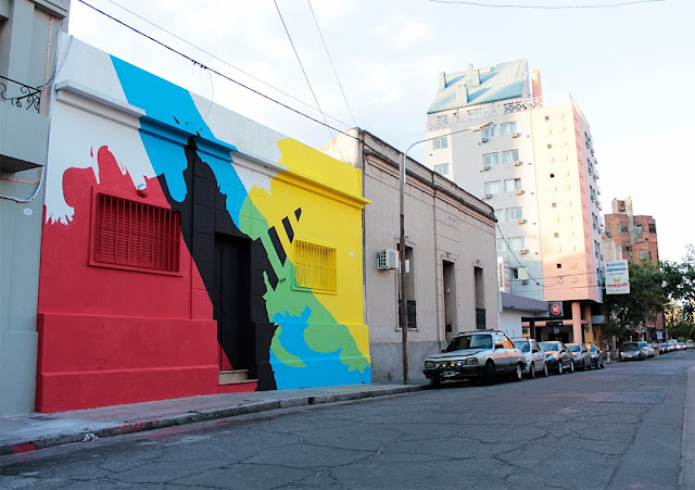 """Neuralgic Point"" New Mural By Argentinian Street Artist Elian In Cordoba, Argentina. 2"