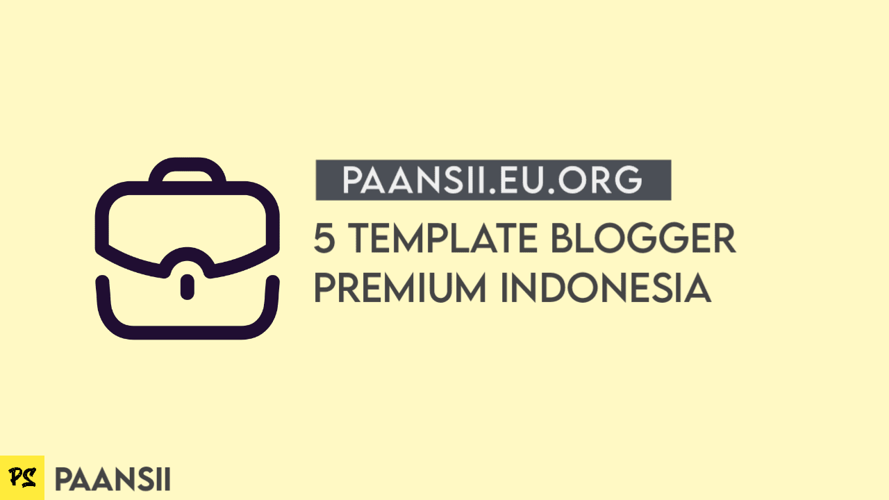 5 Template Blogger Premium Indonesia