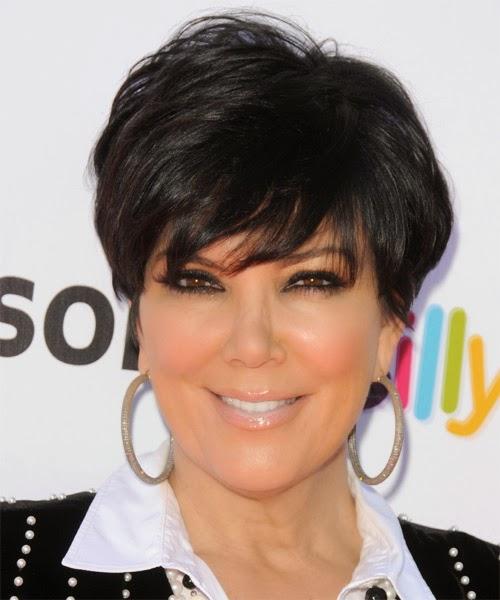 Kim kardashian short haircut layers